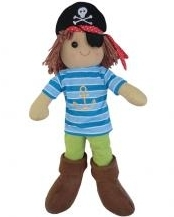 LARGE VINTAGE RAG DOLL - PETE (PIRATE)