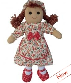 LARGE VINTAGE RAG DOLL - MOLLY