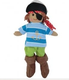 SMALL VINTAGE RAG DOLL - PETE