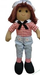 LARGE VINTAGE RAG DOLL - OLIVER (FRENCH SCHOOLBOY)