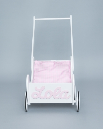 Personalised Wooden Dolls Pram - Jessica