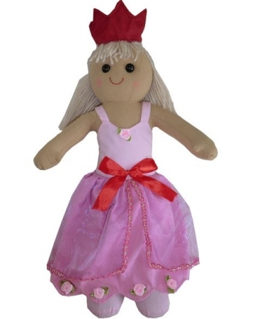 LARGE VINTAGE RAG DOLL - PRINCESS LOLA