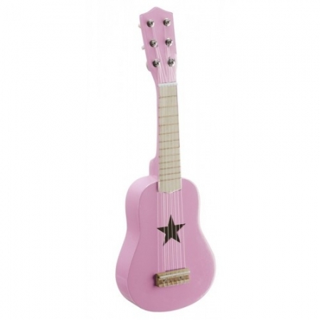 ROCK STAR - Personalised Handmade Wooden Toy Guitar - PINK