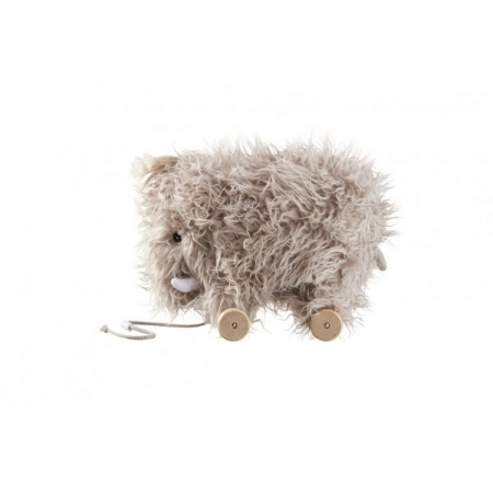 WOOLLY - Grey Mammoth pull along toy