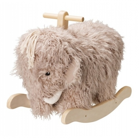 WOOLLY - Grey Mammoth Ride On Rocking Toy