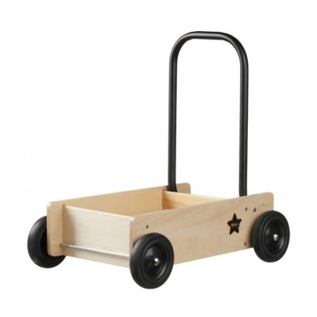 Monochrome Natural Wooden Baby Walker