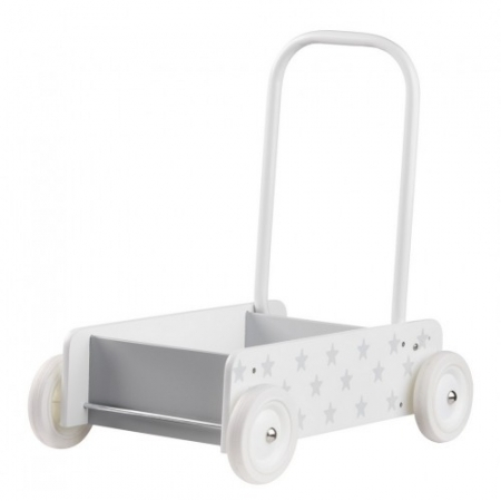 Wooden Baby Walker - Grey Stars