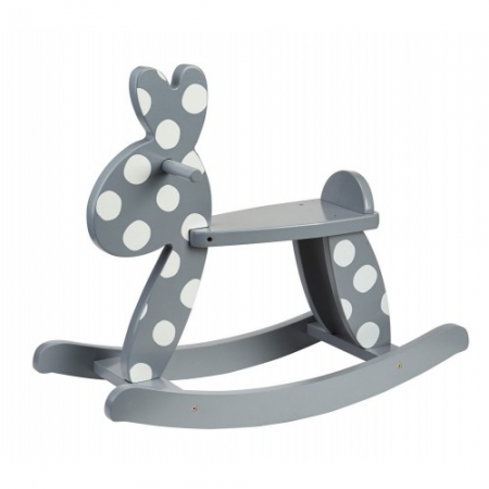 BUNNY - Wooden Rocking Rabbit - GREY