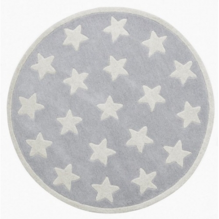 Star Rug 100% Wool - GREY