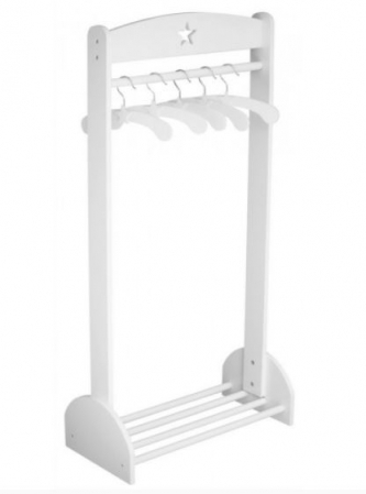 STAR - WHITE CLOTHING RAIL