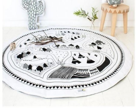 Monochrome Adventure Play Mat / Rug