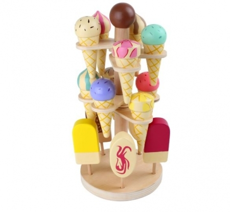 PASTEL WOODEN ICE CREAM STAND
